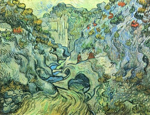 The Ravine by Vincent Van Gogh Giclee Fine Art Print Reproduction on Canvas