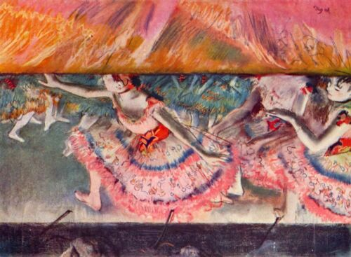 The curtain falls by Edgar Degas Giclee Fine Art Print Reproducon Canvas