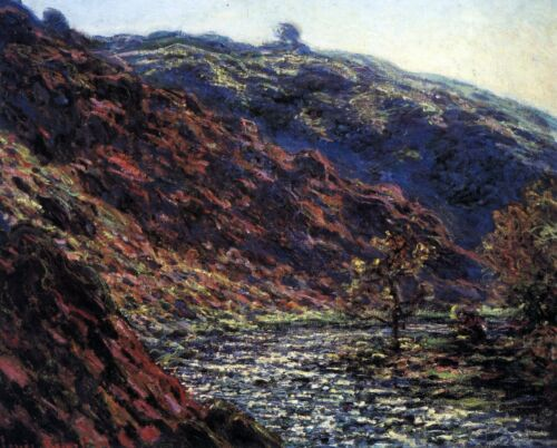 Gorge of the Petite Creuse by Claude Monet Giclee Fine ArtPrint Repro on Canvas