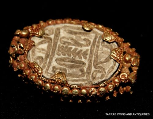 ANCIENT EGYPTIAN STEATITE SCARAB IN A CANAANITE GOLD BEZEL PROBABLY FROM A RING!<br/>Egyptian - 37905