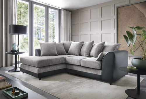 Dylan Byron Corner Group Sofa Right and Left ,Brown and Black <br/> Fast Dispatch, 5-Year Guarantee!