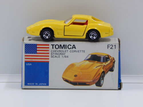 1:64 Chevrolet Corvette Stingray (Yellow) - Made in Japan Tomica F21