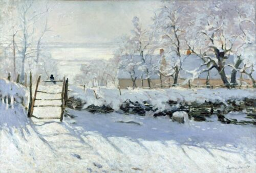 The Magpie by Claude Monet Giclee Museum Size Repro on Canvas