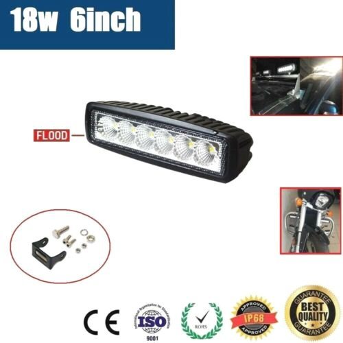 6inch 18W LED WORK LIGHT OFFROAD FLOOD DRIVING BAR CAR AUTO MOTORCYCLE LAMP ATV