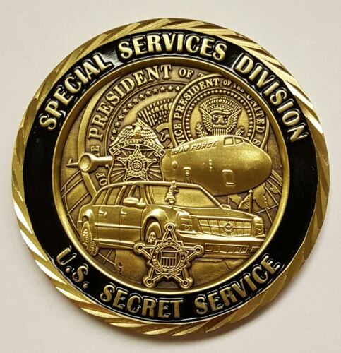 """USSS United States Secret Service SSD Special Services Division 2""""Challenge Coins - 74710"""