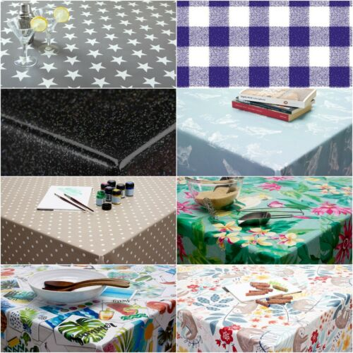 Wipe Clean Tablecloth Oilcloth Vinyl PVC - 140cm ROUND Circle 55 inches <br/> 140cm round 55 inches 100&#039;s of designs in stock today!
