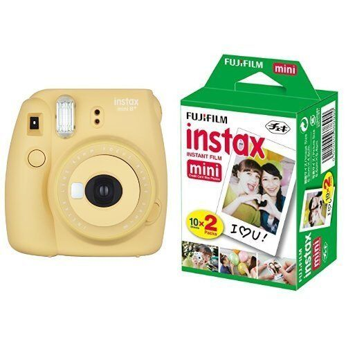 New Model: Fujifilm INSTAX Mini 8 Plus Instant Camera Honey Colour + 20 Film Set