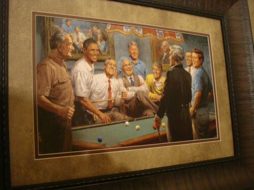 """ANDY THOMAS FRAMED """"Callin' the Red """" OPEN EDITON PRINT"""