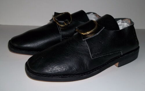 18th Century Colonial Mens Shoes w/Buckles(Size 10) French & Indian,Colonial-NEWReenactment & Reproductions - 156376