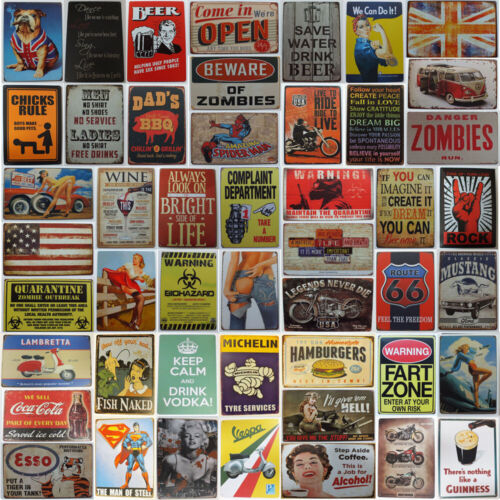 Tin Metal Sign Plaque Bar Pub Vintage Retro Wall Decor Poster Home Club Tavern <br/> 240+ Designs To Choose From. UK Seller Posted 1ST Class