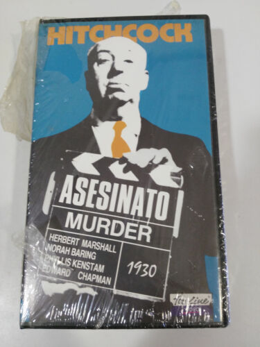 HITCHCOCK MURDER MUERDER VHS TAPE SPANISH NEW NEW