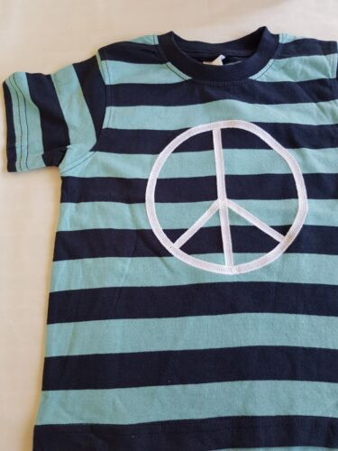 Size 2 BOYS peace tee  green/navy new by gymboree last one