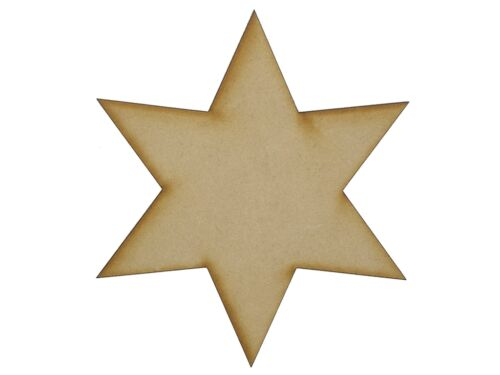 MDF Wooden Shapes Stars 75mm High 3mm Thick Custom Cut x 10 pieces 004