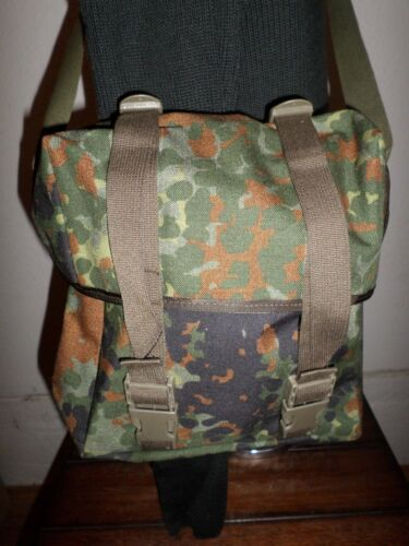 GENUINE GERMAN MILITARY FLECKTARN CAMOUFLAGE SHOULDER BAG HAVERSACK Uniforms & BDUs - 70988
