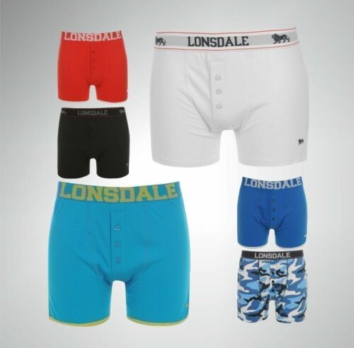 2 Pack Mens Lonsdale Classic Everyday Trunks Boxer Underwear Sizes S-4XL