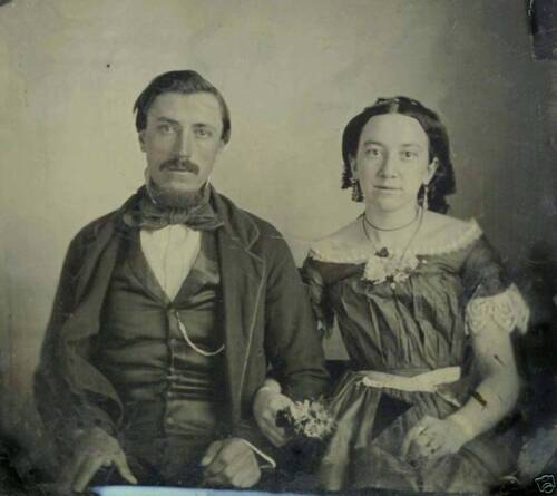 QUALITY SIXTH PLATE AMBROTYPE PORTRAIT OF YOUNG COUPLE
