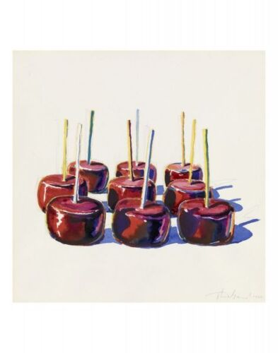 "THIEBAUD WAYNE - NINE JELLY APPLES, 1964 - ART PRINT POSTER 11"" X 14"" (1654)"