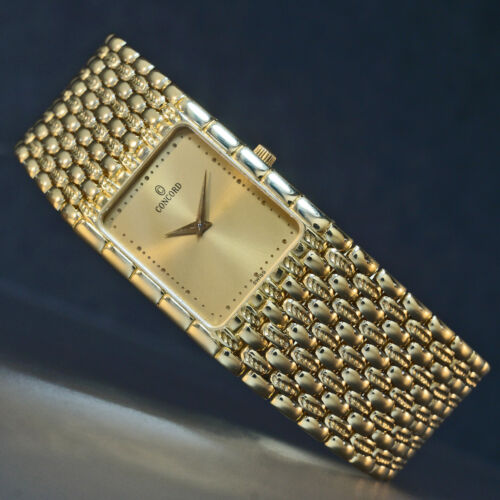 Stunning Concord Solid 18K Yellow Gold Man's Bracelet Watch, MINT CONDITION!