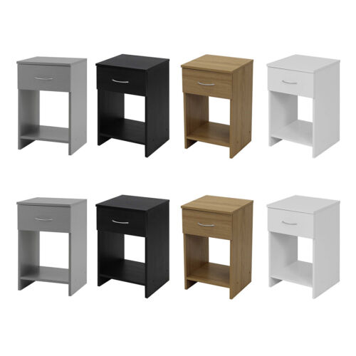 1 Drawer Bedside Cabinet Bedroom Drawers Chest Table Storage Unit Furniture Draw