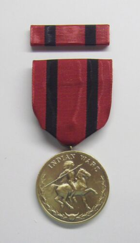 Indian Wars Military Medal with RIBBONReproductions - 156384