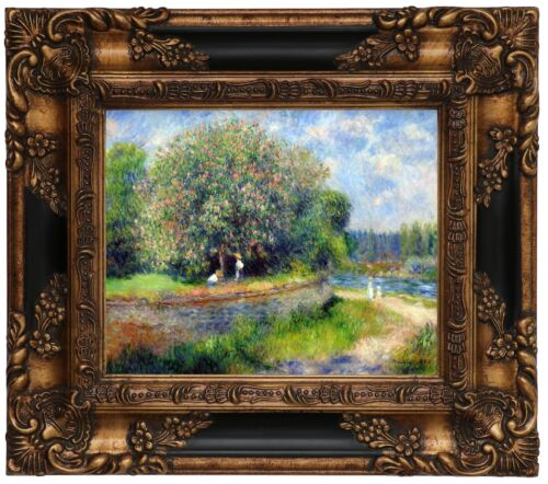 Renoir Chestnut in Blossom 1881 Wood Framed Canvas Print Repro 8x10