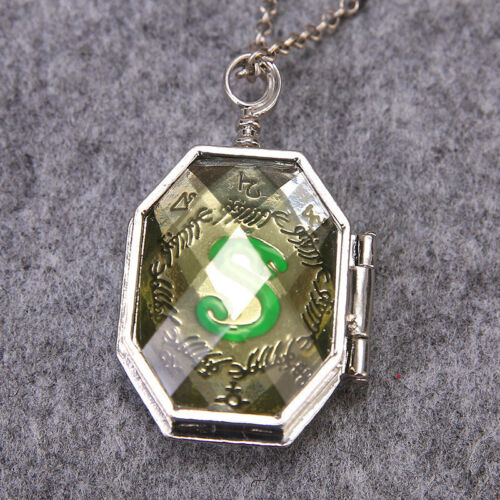 Lord Voldemort Horcrux Slytherin Locket Necklace Halloween Cosplay Accessory