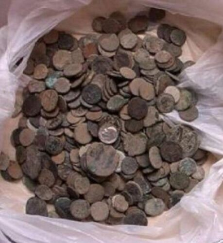 UNCLEANED AND UNSORTED ROMAN COINS FROM ISRAEL , 10 PER bidding/buying!