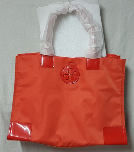 Tory Burch Bag 22139694 Nylon Ella Electric Orange Tote Agsbeagle <br/> Guaranteed Authentic Tory Burch Bags Fr the US!! SALE!!