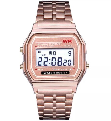 NO CASIO gold silver Watch digital watch square military unisex