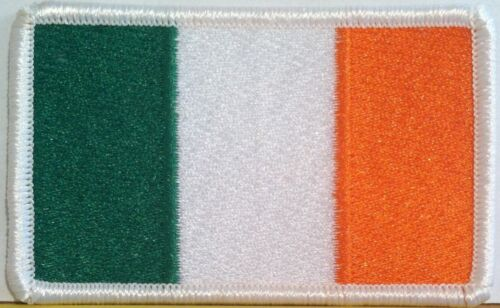 IRELAND Flag Patch with VELCRO® brand fastener Military Tactical White Emblem #6