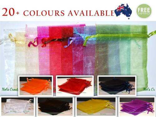 Organza Bag Sheer Bags Jewellery Wedding Candy Packaging Beads Gift 100 /50 / 25 <br/> Available in 25pcs, 50pcs and 100pcs. We also wholesale