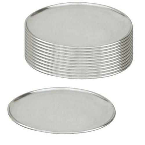 12 x Pizza Tray / Plate / Pan, Aluminium, 230mm / 9 inch, Round, Pizzas