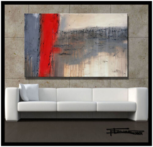 ABSTRACT MODERN CANVAS PAINTING CONTEMPORARY WALL ART  48in. US artist ELOISExxx