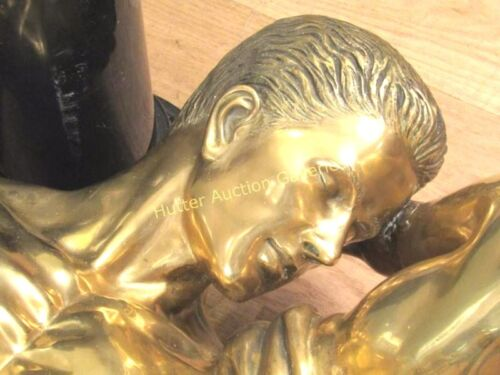 BRONZE SCULPTURE /TABLE SIGNED Don Alberto Carlos (German, 1949) ONE OF A KIND