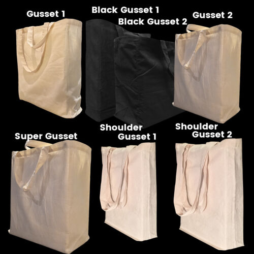 Calico Bags Gusset Black Gusset Calico Bags Shopping Bags Bulk Calico Bag <br/> Bulk Calico Gusset Bag, Eco Conference Promotional Bag