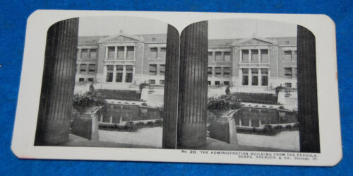 The Administration Building Sears Roebuck & Co. Chicago Ill. Stereoview Card