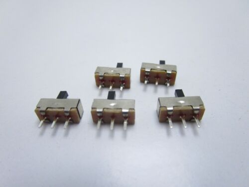 MINI SLIDE SWITCH INTERRUTTORE ON OFF A SCORRIMENTO VERTICALE 1P3T SS12D00G3 3mm