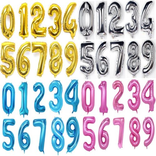 """40"""" Giant Foil Helium Balloons Number 0-9 Wedding Inflatable Air Balloon Sticker"""
