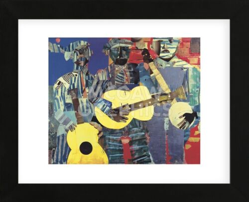 FRAMED ART Three Folk Musicians, 1967 by Romare Bearden Music Print Frame 13x16