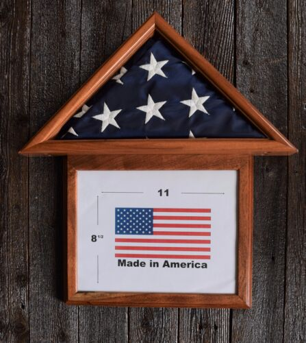 3 X 5 MESQUITE WITH FRAME FLAG DISPLAY CASE USA MADE AMERICAN MILITARY BOX mpf72Other Militaria - 135