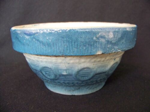 Blue and White Stoneware WEDDING RING BOWL 5 1/8&quot; dia.<br/>Bowls - 63522