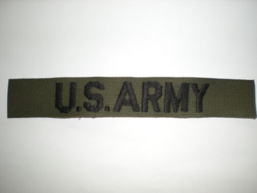 US ARMY POCKET TAPE FOR BDU'S (EMBROIDERED) -SUBDUEDOriginal Period Items - 13983