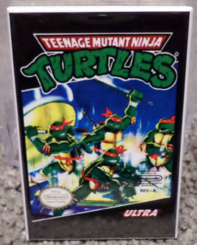 "TMNT Vintage Nintendo Ultra Box Art MAGNET 2"" x 3"" Refrigerator Locker Turtles"