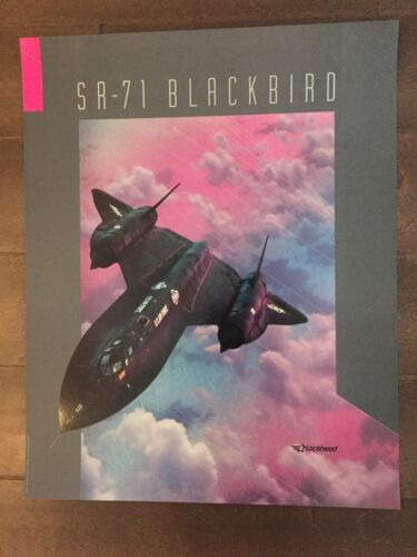 Glossy IN COLOR Lockheed SR-71 Blackbird Aircraft Poster- circa 1990sReproductions - 156452