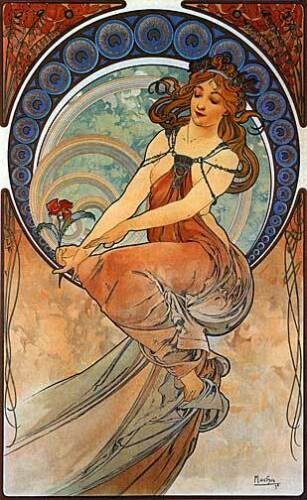Painting 22x30 Hand Numbered Edition Art Nouveau/Deco Print by Alphonse Mucha