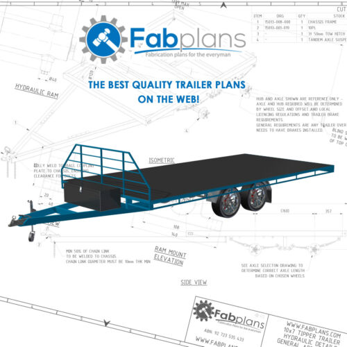 16'x8' Flat Deck Trailer Plans - Build your own heavy duty trailer! A4