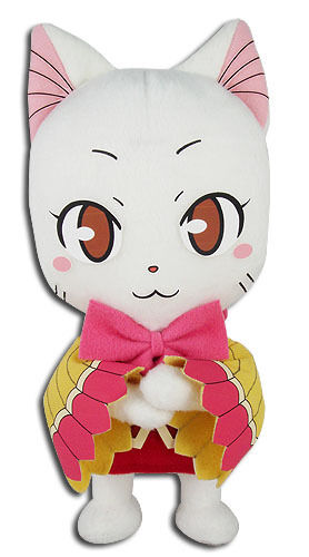 "Fairy Tail Anime Carla Plush White Exceed Cat 8"" Official New Tag GE Animation"