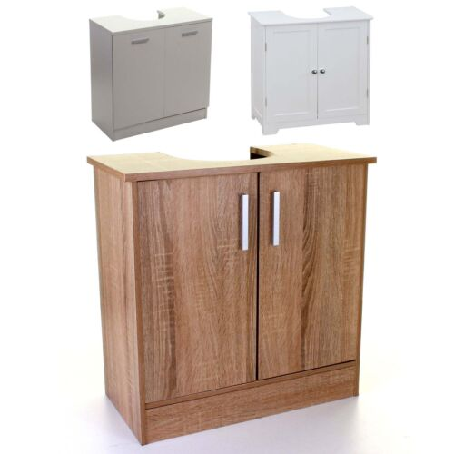 UNDER SINK CABINET BASIN STORAGE UNIT CUPBOARD BATHROOM WOOD WHITE VANITY DOORS <br/> ✔ 3 STYLES AVAILABLE  ✔ EASY ASSEMBLY  ✔ UK STOCK