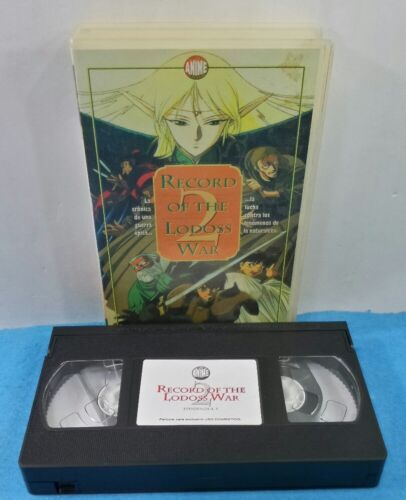 VHS VINTAGE CLASICOS - RECORD OF THE LODOSS WAR 2