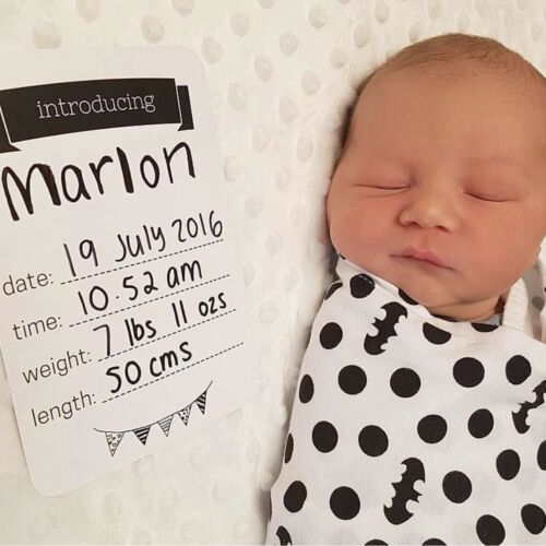 Baby Age Cards - Baby Milestone Cards, Baby Photo Cards - Newborn Photo Props
